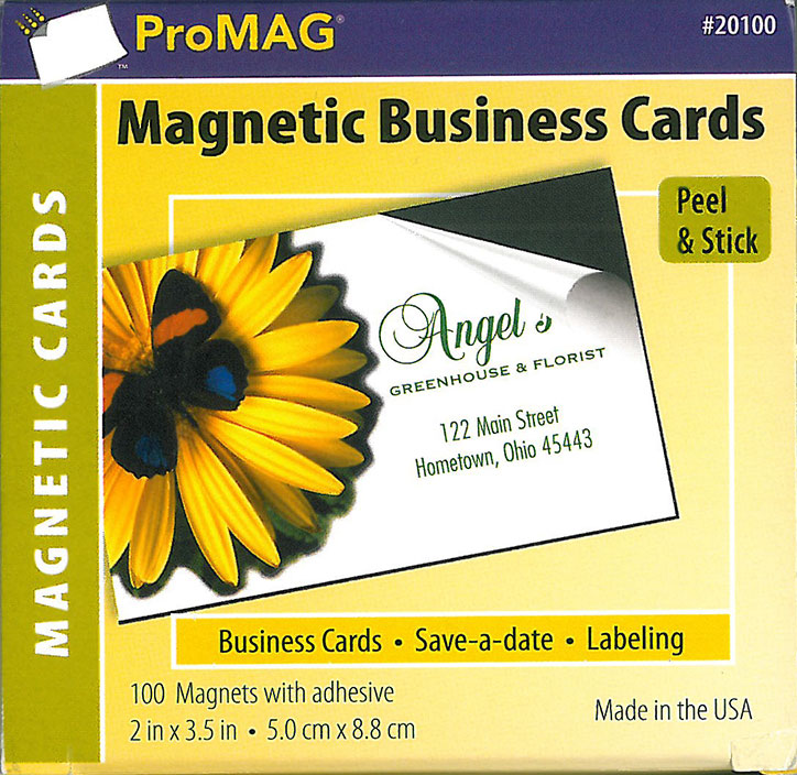 Promag peel stick business card magnets 100pack for Business card magnets peel and stick