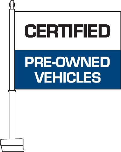 car flags certified pre owned blue. Black Bedroom Furniture Sets. Home Design Ideas