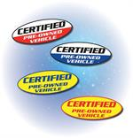 Certified Pre-Owned Vehicle Window Stickers