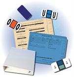 A picture of service file supplies