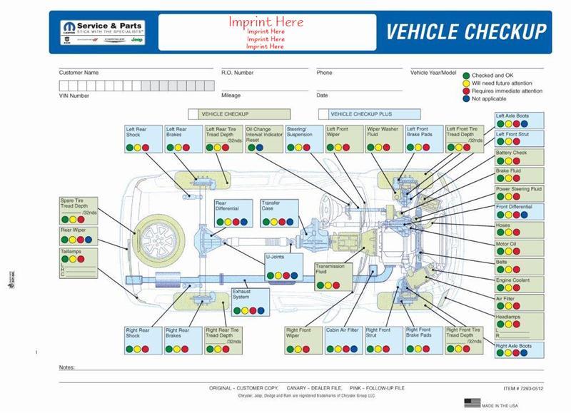 Chrysler multi point inspection form altavistaventures Images