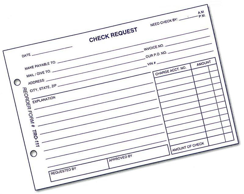 Check Request Form Tro