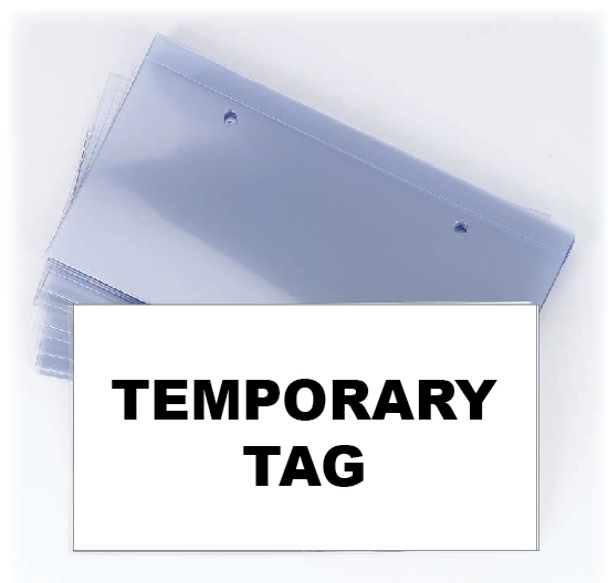 Temporary Tag Protector In Transit Plate Protector