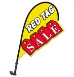 3D Clip On Paddle Flag - Red Tag Sale