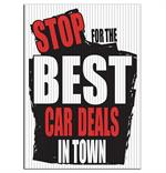 Jumbo Underhood Signs - Stop For The Best Car Deals In Town