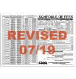 MV Schedule of Fees Poster 07/19