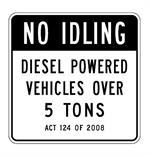 R7-100 No Idling Sign Official PA Sign